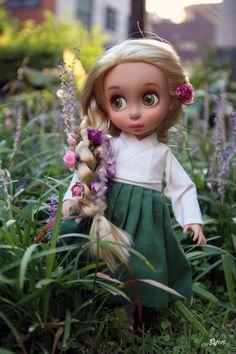 복담은빔 :: 디즈니 베이비돌 라푼젤 한복과 이름모를 보라색 꽃 : 네이버 블로그