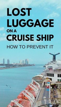 Cruise packing tips: How to prevent lost luggage on a cruise ship :: cruise luggage Cruises. How to prevent lost luggage on a cruise ship. What to pack for a cruise packing list. Packing List For Cruise, Disney Cruise Tips, Best Cruise, Cruise Travel, Cruise Vacation, Vacations, Honeymoon Cruise, Family Cruise, Honeymoon Ideas