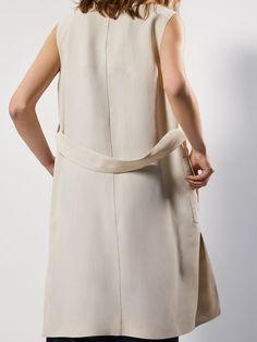LNIANA LEJĄCA KAMIZELKA Z WIĄZANIEM - Kobieta - Massimo Dutti Tied Up, Spring Summer 2018, Dresses For Work, Shirt Dress, Elegant, Detail, Coat, Jackets, Shirts