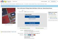 coffret starck maison 3 suisses  a vendre occasion prix Cette maison devait être la premiere d'une longue serie, en projet il y avait une maison en contreplaqué et zinc déssinée par Franck Guéry, puis une autre de Jean Nouvel faite en aluminium, puis celle d'Aldo Rossi réalisée en brique...