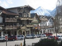 Leavenworth, Washington - a slice of Bavaria and the Swiss Alps in the state of Washington! Wonderful at Christmastime The Places Youll Go, Places To See, Places Ive Been, Lugano, Basel, Leavenworth Washington, Lucerne, Swiss Alps, Central Europe