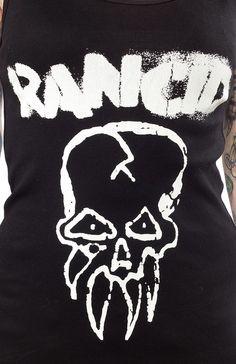 RANCID SKULL GIRLS TANK TOP