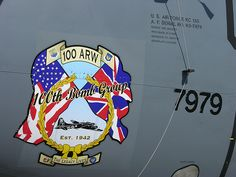 RAF Mildenhall's wing. The 100th Air Refueling Wing descendent of the Bloody 100th Bomb Group.  Of WW II fame.