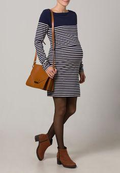 ¡Consigue este tipo de vestido informal de Jojo Maman Bébé ahora! Haz clic para ver los detalles. Envíos gratis a toda España. JoJo Maman Bébé BRETON Vestido ligero navy/ecru stripes: JoJo Maman Bébé BRETON Vestido ligero navy/ecru stripes Ropa   | Material exterior: 95% algodón, 5% elastano | Ropa ¡Haz tu pedido   y disfruta de gastos de enví-o gratuitos! (vestido informal, casual, informales, informal, day, kleid casual, vestido informal, robe informelle, vestito informale, día...
