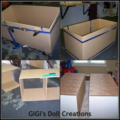 GiGi's Doll and Craft Creations: American Girl Doll House Tutorial