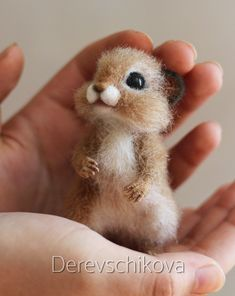 * Needle felted art by Stacy - Best Adorable Animals Baby Animals Super Cute, Cute Little Animals, Cute Funny Animals, Cute Cats, Needle Felted Animals, Felt Animals, Needle Felting, Animals And Pets, Felt Owls