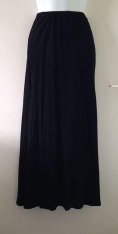 VTG 90s GHOST Tanya Sarne Liberty Long Maxi Crepe Skirt Gothic Festival M 10 12   05.50