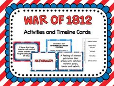 War Of Webquest With Key Teacher Students And History - Us history map activities answer key war of 1812