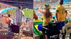 Hinchas fingen discapacidad para ver los partidos del Mundial