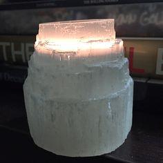 Selenite Candle Holder