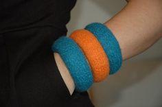Βραχιόλι Felt Μαλλί Μερινός, Μπλέ Ραφ-Πορτοκαλί 3 τεμ Handmade Bracelets, Jewelry Bracelets, Homemade Bracelets