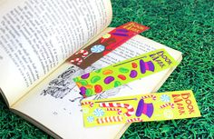 Free printable Charlie and the Chocolate Factory bookmarks by Party Delights  http://blog.partydelights.co.uk/how-to-throw-a-charlie-and-the-chocolate-factory-party/