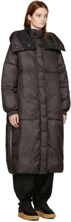 Stella McCartney: Black Nylon Marceline Coat | SSENSE