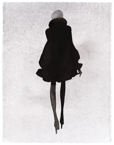 Swedish illustrator Mats Gustafson's fashion illustrations often focus on the silhouette