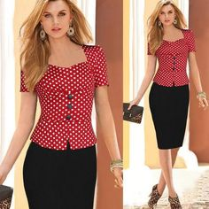 New 2016 Women Pencil Casual Office Dress Collection