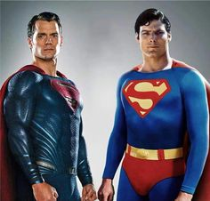 Cavill and Reeve two of the best supermen of all time IMO Superman Love, Superman Dawn Of Justice, Superman Family, Superman Man Of Steel, Batman Vs Superman, Superman Cosplay, Superman Characters, Superhero Movies, Dc Comics Art