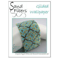Modello di peyote  carta da parati dorata Peyote di SandFibers