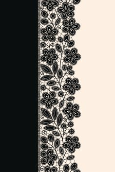 View top-quality illustrations of Black Ribbon Lace Vertical Seamless Pattern. Gown Drawing, Lace Drawing, Lacey Pattern, Flowery Wallpaper, Border Embroidery Designs, Henna Tattoo Designs, Stencil Patterns, Linens And Lace, Album Design
