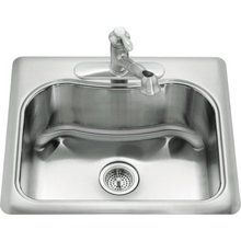 "Kohler K-3362-4 Staccato 21-1/8"" Single Basin Top-Mount 18-Gauge Stainless Steel Kitchen Sink with SilentShield® Technology $204 22X25X8"