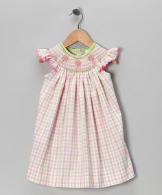 Take a look at this Pink Flowerpot Angel-Sleeve Dress - Infant, Toddler & Girls by Castles & Crowns on #zulily today!