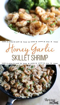 This honey garlic soy shrimp marinade makes a great healthy dinner. I love the sweet savory flavor and that the shrimp can be used in a variety of ways. This recipe also includes how to make a freezer friendly version! So, if you're looking for a healthy freezer meal, look no further.