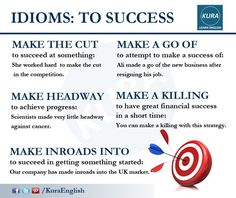 Idioms: To success
