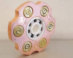 The Steampunk STOUT NANO EDC Spinner with tiny brass frame