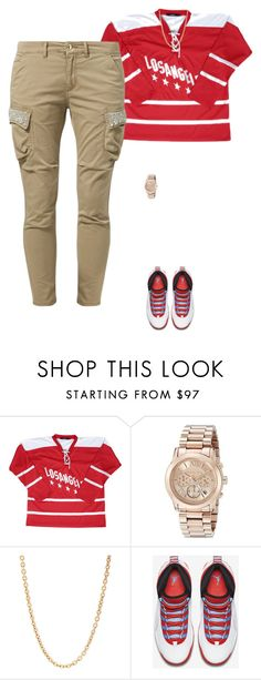 """""""life"""" by loverswag ❤ liked on Polyvore featuring Michael Kors, Mark Davis, NIKE and FRACOMINA"""