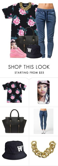 """""""Trill Militia is now Open for Anyone to join!!"""" by nasiaswaggedout ❤ liked on Polyvore featuring Yoki, OnePiece, Wood Wood, ASOS and adidas Originals"""