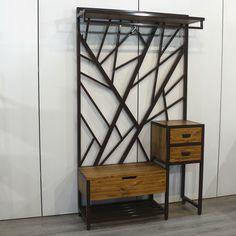Welded Furniture, Iron Furniture, Steel Furniture, Home Decor Furniture, Furniture Design, Diy Wooden Projects, Wrought Iron Decor, Muebles Living, Vintage Industrial Furniture