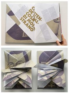 book design: folding down identities.