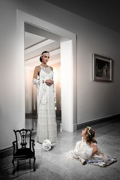 The Morocco wedding dress by Victoria Kyriakides is a cinema inspired silk dress with French tulle. The handmade lace pashmina adds a bohemian flair to the bridal look!  see more here http://www.love4wed.com/victoria-kyriakides-bridal/