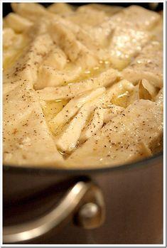 Homemade Buttermilk Chicken and Dumplings...a farmhouse favorite!