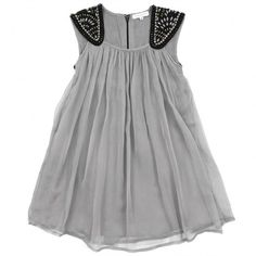 grey dress. i'd wear it w/a cardigan and screw up everything cute about it, but whatever.