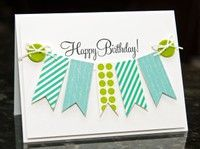 Easy Birthday Cards-buttons holding the banner!!