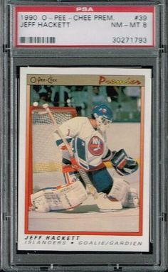PSA 8 1990 Opeechee OPC Premier NHL Hockey Card Jeff Hackett #39 New Yorl Islanders Sold And Photographed By Thegoodoldboys by Opeechee. $14.00. Buyer gets best looking card available if more than card is available.      ***For anyone that wants to buy more than 1 from me, Thegoodoldboys***  Amazon won't let me fix the shipping, so what has to be done is when you buy multiple items from me, you will get charged shipping for each one.  What I can do is then refund you the e...