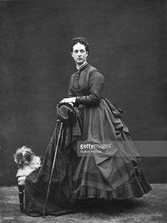Alexandra, Princess of Wales (Queen Alexandra) ( 1844 - 1925) with her Tibetan Lion Dog.