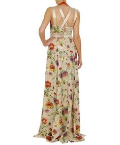 ETRO   FLORAL EMBROIDERED CREPE MAXI-DRESS - perfect dress for a wedding!