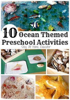 Ocean themed preschool activities - Stay At Home Educator