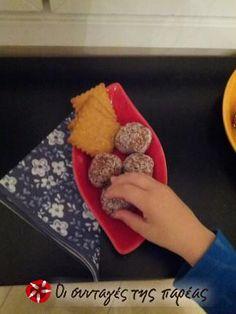 Τρουφάκια με καρύδια και χυμό πορτοκάλι #sintagespareas