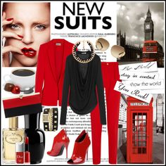 """""""Power Red"""" by manicurelover on Polyvore"""