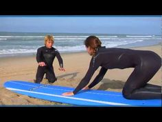"http://www.theoceanfrontca.com shows how to surf for beginners. This ""surfing 101"" video walks you through surfing basics, such as how to swim out, stand up,..."