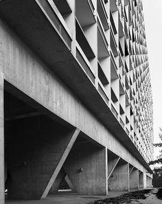 Unité d'habitation, Firminy, France, 1960 - Le Corbusier.