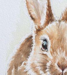 Lapin aquarelle détails make more art watercolor art, waterc Bunny Painting, Bunny Drawing, Bunny Art, Watercolor Animals, Watercolor Print, Watercolour Painting, Painting & Drawing, Animal Paintings, Animal Drawings