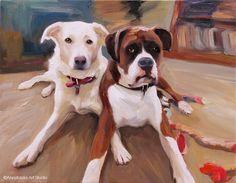 Custom Pet Portrait  Fine Art Painting 24x30 by AnastassiaArt, $320.00