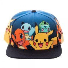 Pokemon Group Shot Youth Snapback Baseball Cap