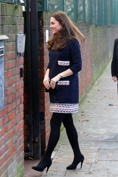 """Catherine, Duchess of Cambridge (Catherine """"Kate"""" née Middleton) opened the Clore Art Room at Barlby Primary School, London, January 15, 2015"""