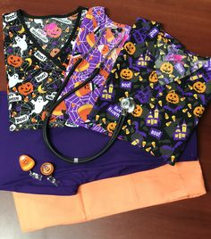 When It's Time To Get Spooky, Don't Look Any Farther Than Scrubin For All Your Halloween Scrub Needs! Choose From a Variety of Halloween Print Scrubs. Halloween Scrubs, Halloween Prints, Cute Halloween, Web 2, Scrub Tops, Candy Corn, Diaper Bag, Happy, Bags