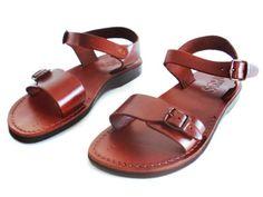 SALE ! New Leather Sandals KIBUTZ Women's Men's Shoes Thongs Flip Flops Flats Slides Slippers Biblical Bridal Colored Footwear by Sandalimshop on Etsy