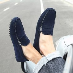 New 2014 spring and autumn genuine leather casual shoes men driving shoes comfortable flats loafers man gommini shoes 2019